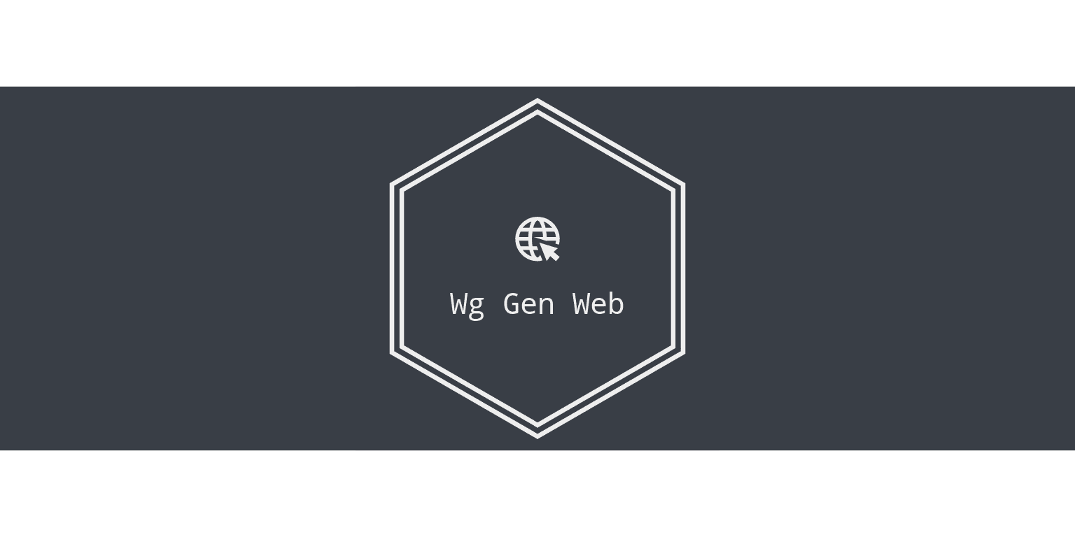 Simple Web based configuration generator for WireGuard